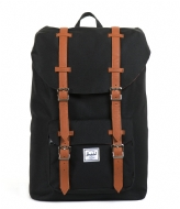 Herschel Supply Co. Little America Mid Volume 13 Inch black & tan PU