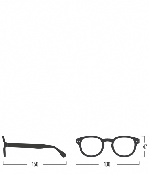 Izipizi  #C Reading Glasses soft tortoise